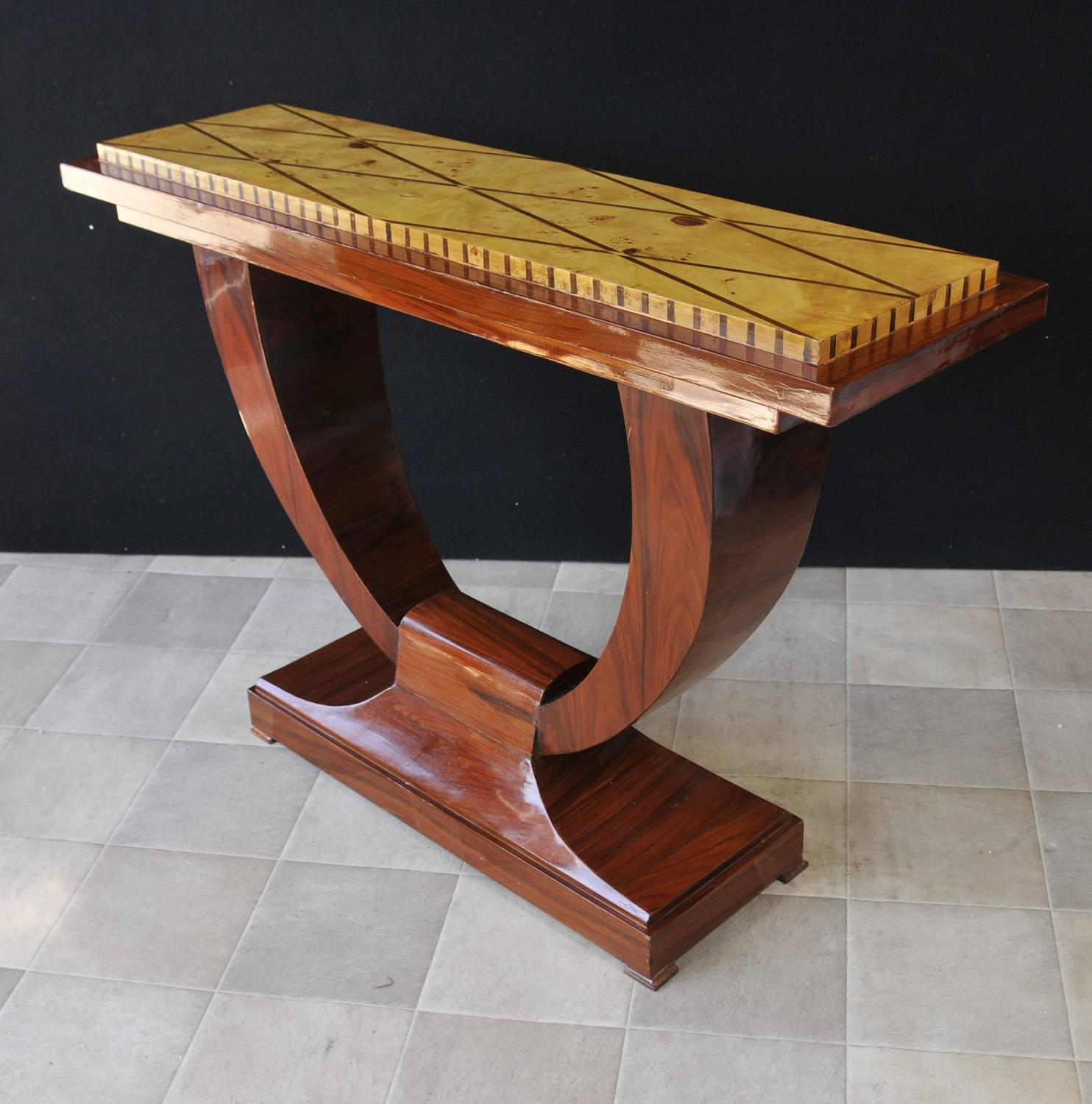 Art Deco Foyer Table : Art deco style ogee rosewood console table hall for sale