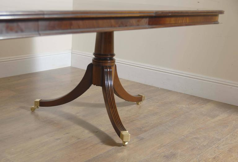 Regency style triple pedestal dining table seats 14 for for 14 seater dining table