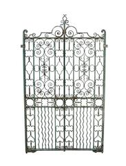 Pair of Antique English Wrought Iron Pedestrian Gates, circa 1900