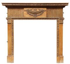 Early 20th Century Pine and Composition Fire Surround