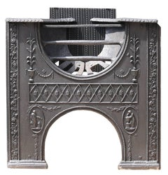 Reclaimed 18th Century Cast Iron Hourglass Hob Grate