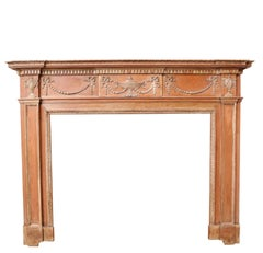 Georgian Style Carved Pine Fire Surround, circa 1900