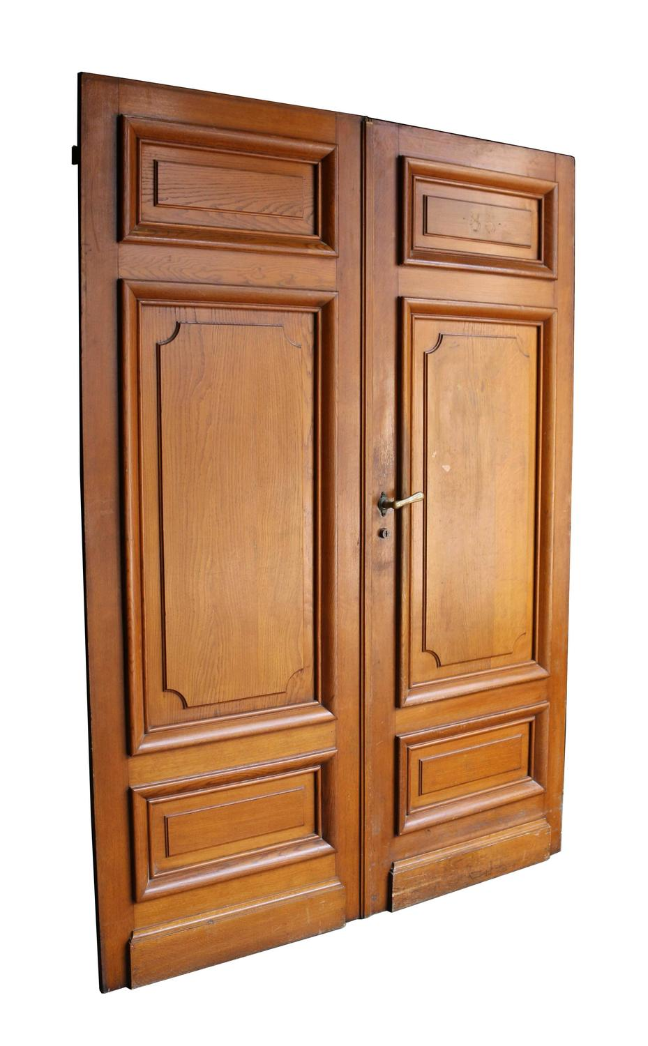 Pair of french oak double doors for sale at 1stdibs for Double doors for sale