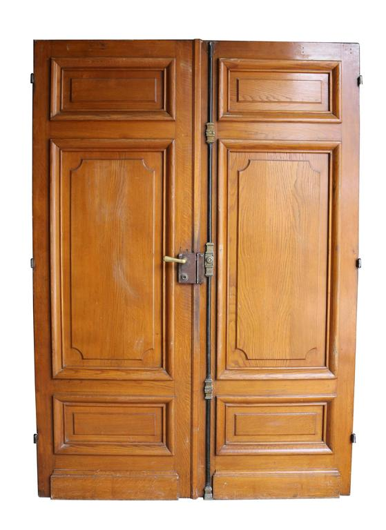 Pair of french oak double doors at 1stdibs for Double french doors for sale