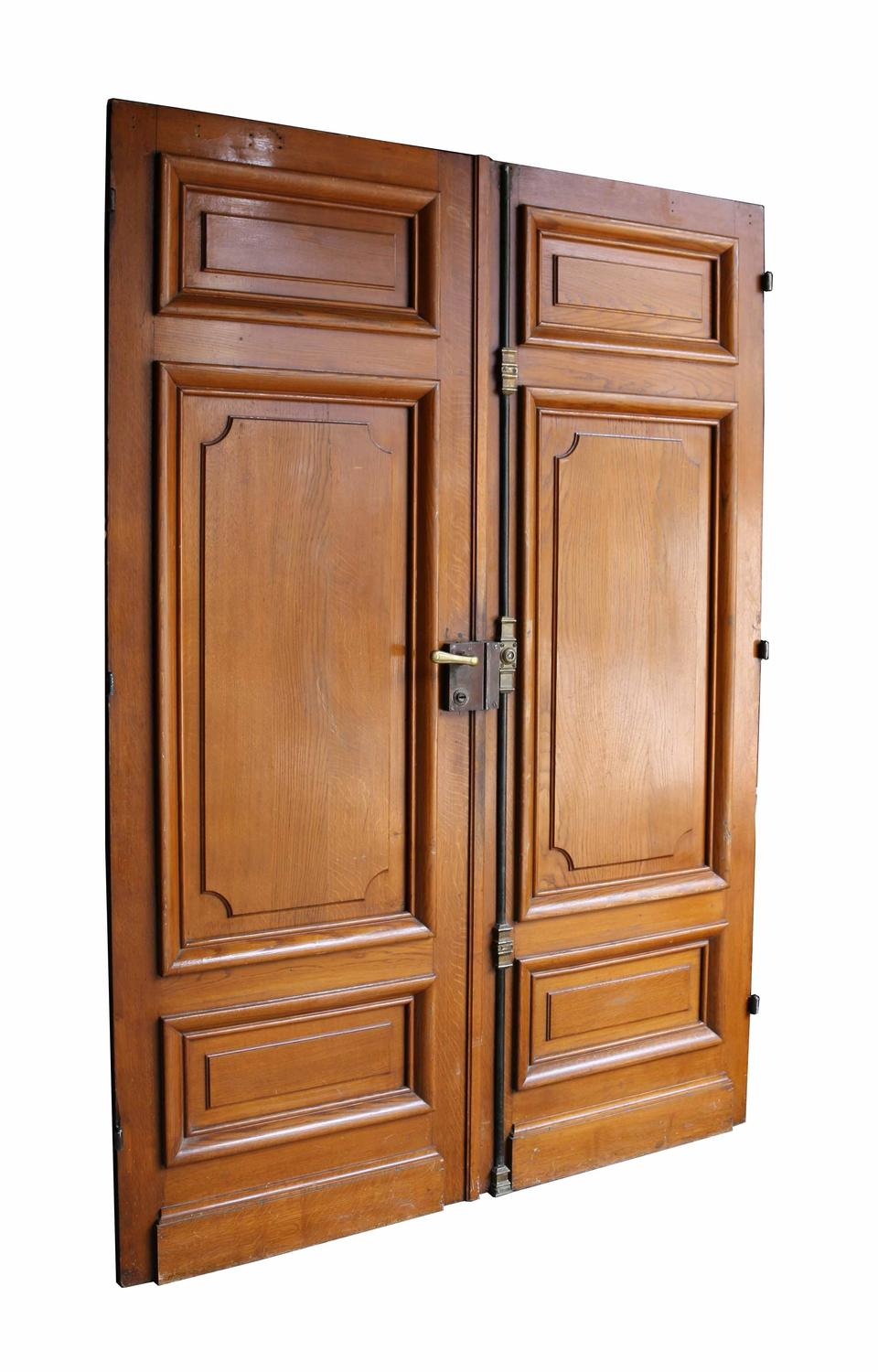 Pair of french oak double doors for sale at 1stdibs for Double french doors for sale