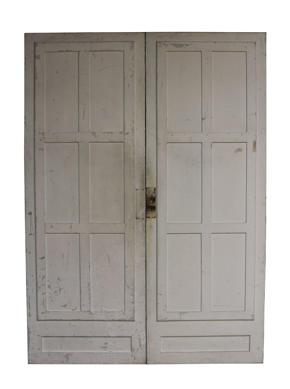 Pair of antique french double mirror doors for sale at 1stdibs for Double french doors for sale