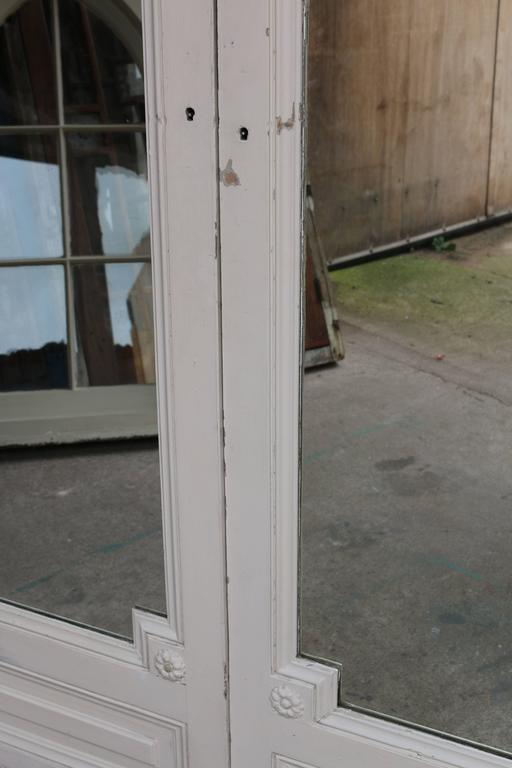 20th Century Pair of Antique French Double Mirror Doors For Sale