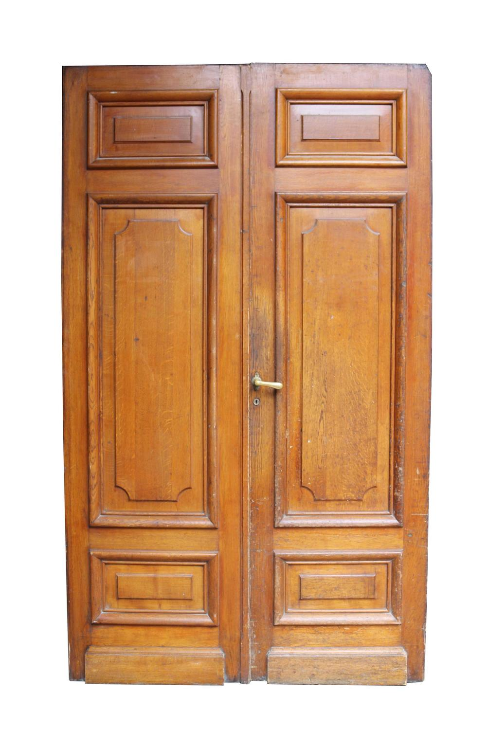 Pair Of Antique Exterior Oak Double Doors For Sale At 1stdibs