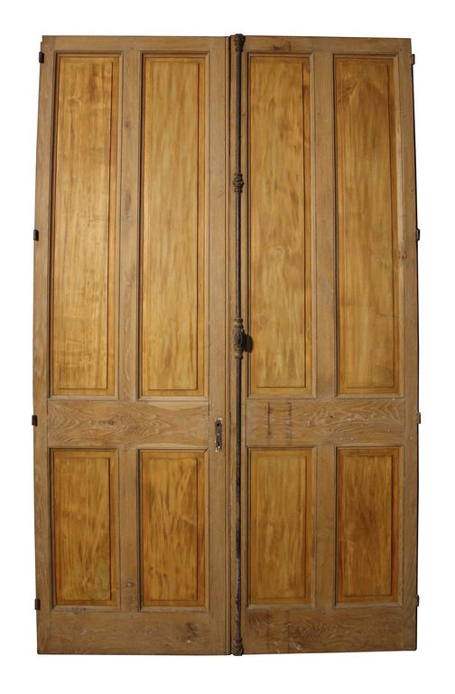 Oak frames with walnut panels, French, mid-late 19th century. The top and sides have an additional 15 mm rebate which could be removed.   Both doors have a width individually of 76.5cm.