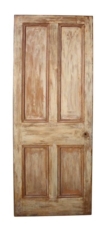 Hand Painted Arts And Crafts Period Pine Door At 1stdibs