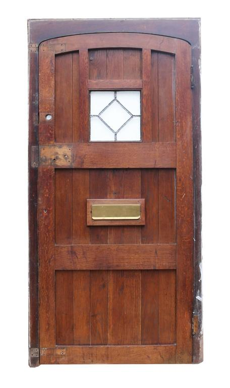 Arched Oak Door With Frame Circa 1900 For Sale At 1stdibs