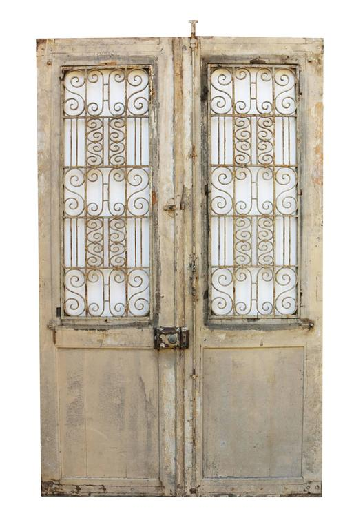 Pair of antique french double doors for sale at 1stdibs for Double french doors for sale