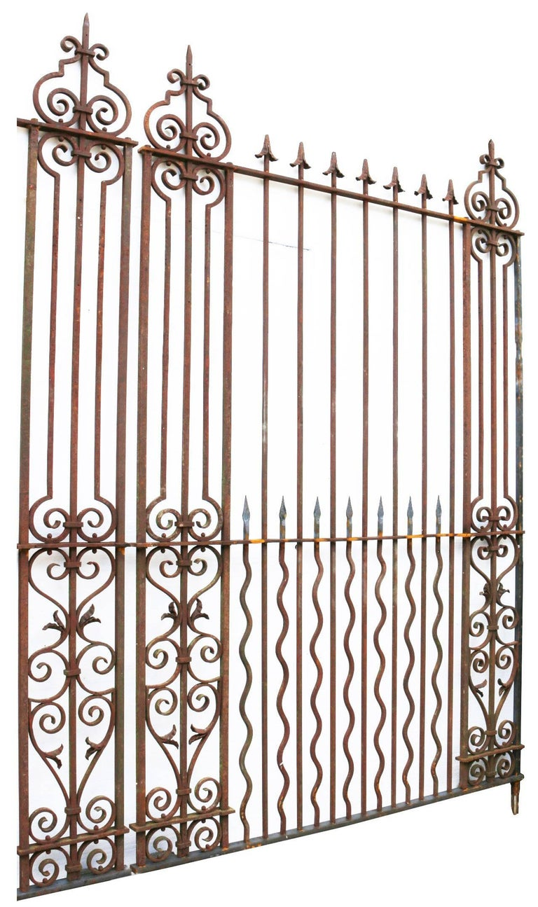 These driveway gates are from the late 19th century and have the original shields included but not fitted. Measure: 12ft 7