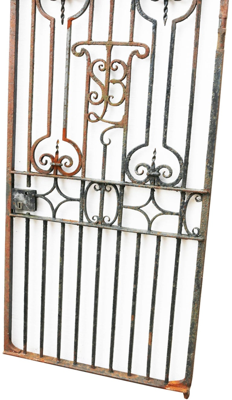 Tall wrought iron pedestrian gate for sale at stdibs