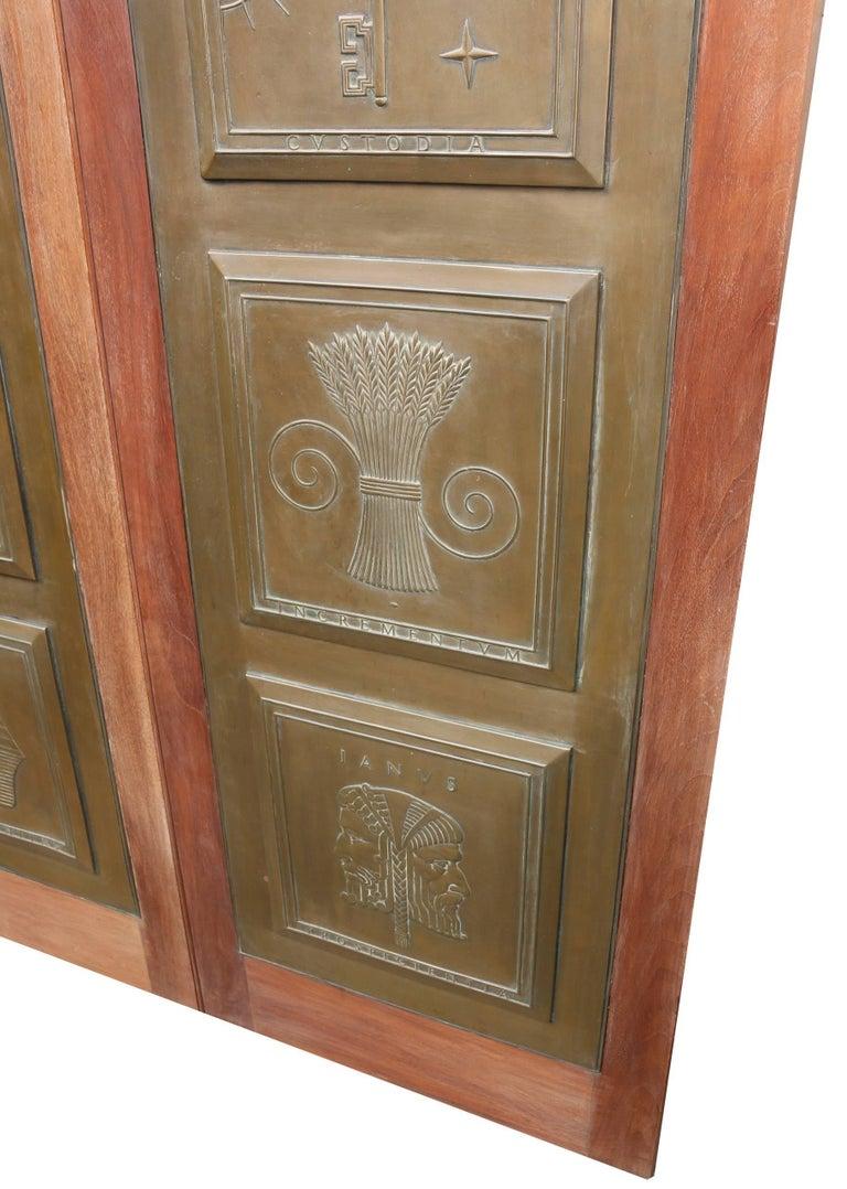 Pair of Brazilian Mahogany and Bronze Doors, circa 1900 For Sale 2