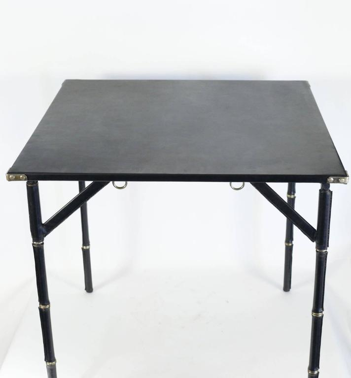 Jacques Adnet 1950s Folding Game Table 2