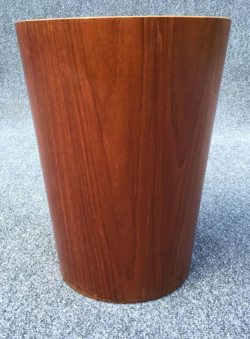 Teak and birch waste paper bin by servex at 1stdibs for Furniture decoration paper