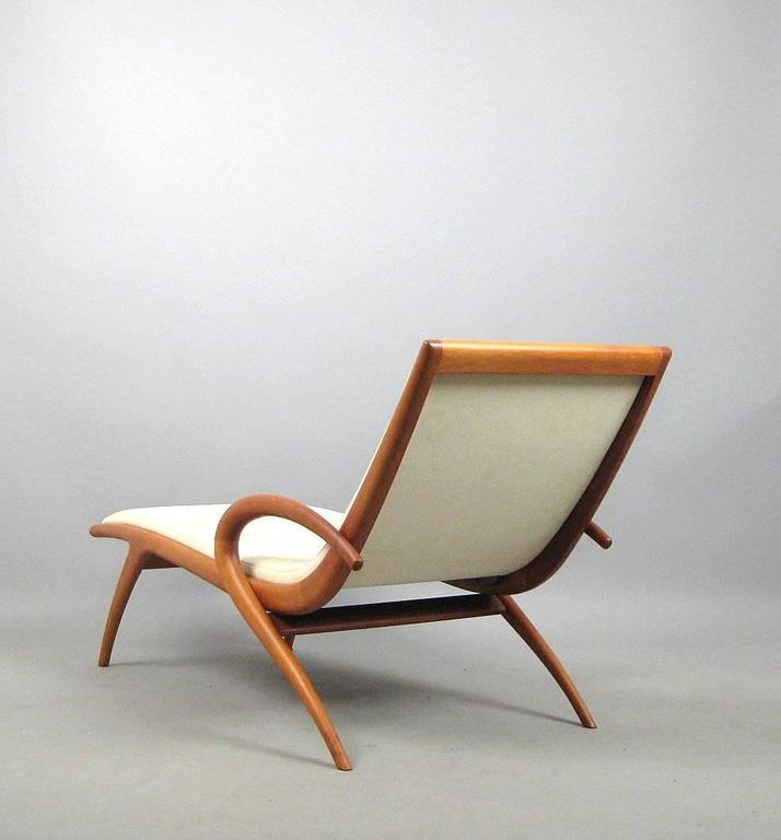 Mid-Century Modern 'Pigra' Chaise Longue by Marconato & Zappa for Porada For Sale
