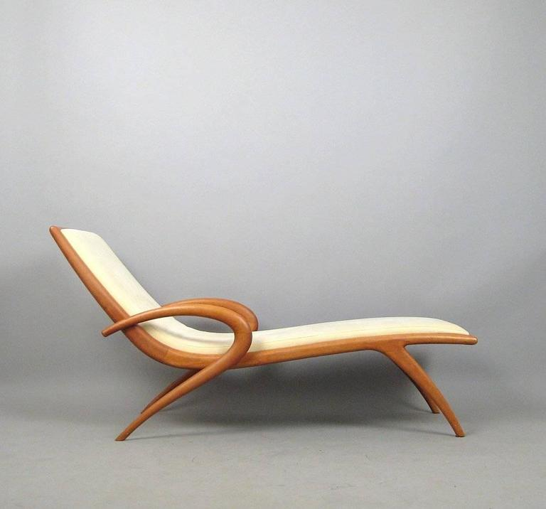 Cherry 'Pigra' Chaise Longue by Marconato & Zappa for Porada For Sale