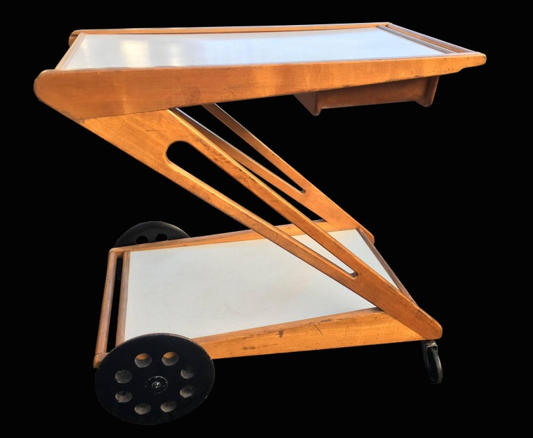 Dutch Mobilo Serving Trolley Model PE03 by Cees Braakman for Pastoe For Sale