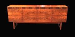 Four Door Swedish Sideboard by Ib Kofod Larsen for Seffle veneered in Pau Ferro