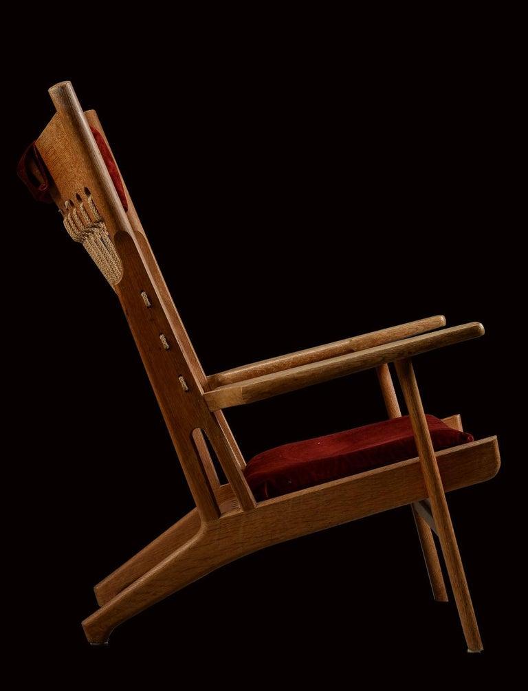 20th Century Very Rare Hans Wegner Oak Flag Halyard Chair JH719 for Johannes Hansen For Sale