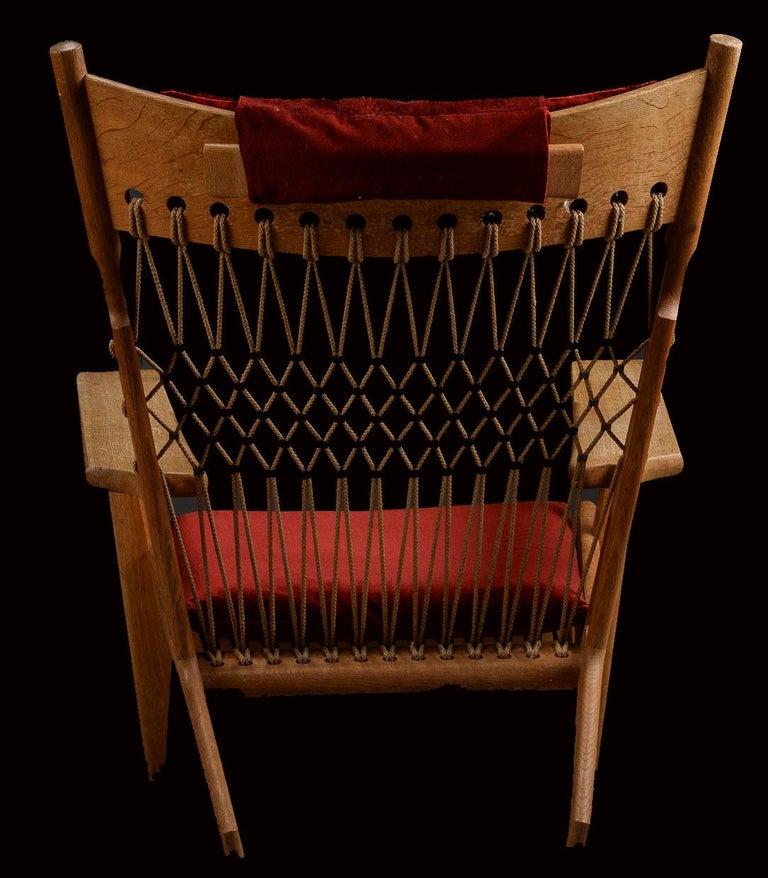 Very Rare Hans Wegner Oak Flag Halyard Chair JH719 for Johannes Hansen For Sale 3