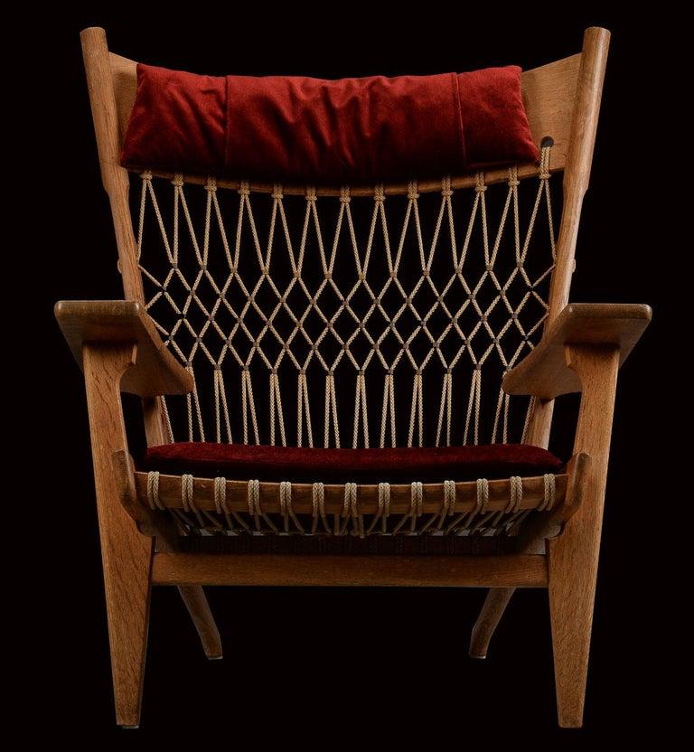 Very Rare Hans Wegner Oak Flag Halyard Chair JH719 for Johannes Hansen For Sale 2