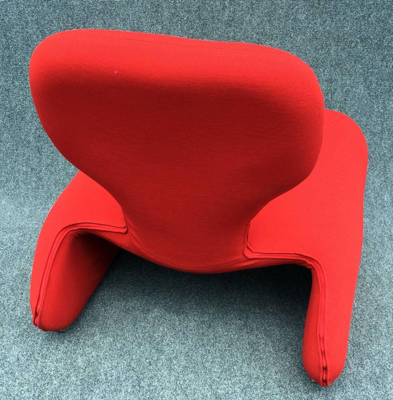 Original Djinn chair by Olivier Mourgue for Airborne Industries, as seen in 2001 a space odyssey, recovered in original stretch Jersey to the closest possible tolerances, but allowing for modern fire regulations.