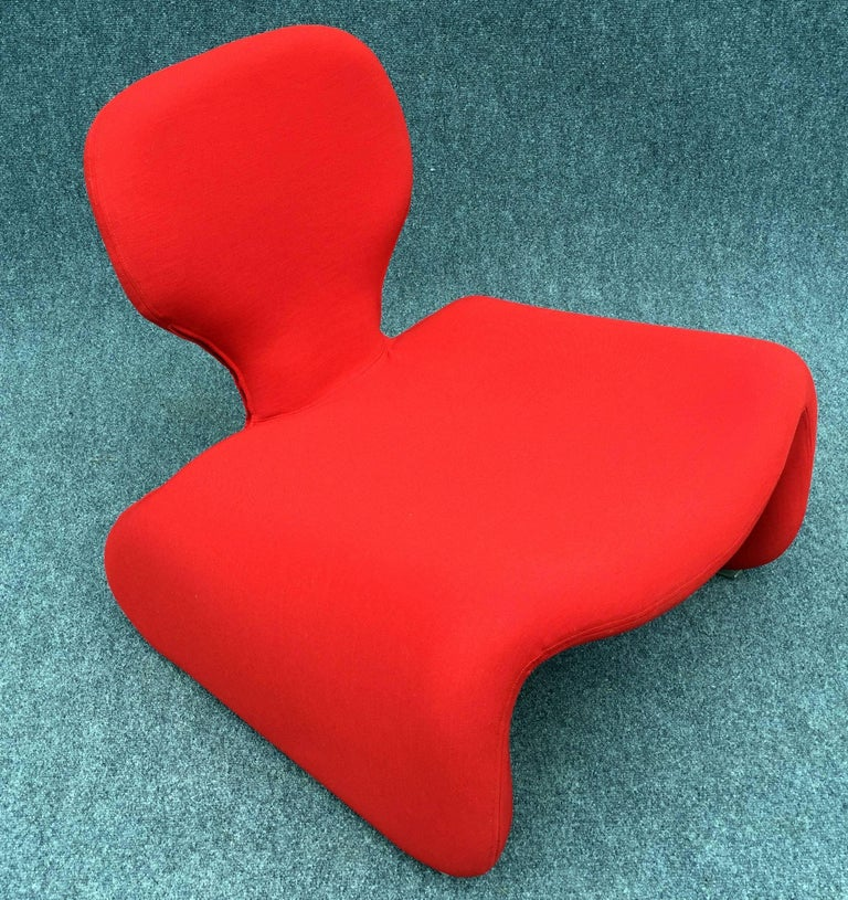 Fabric Djinn Chair by Olivier Mourgue for Airborne