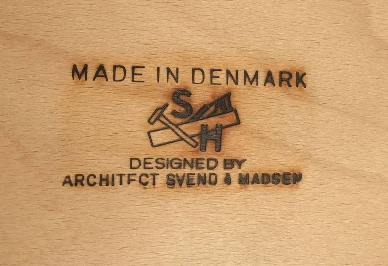 First Edition Teak Desk by Svend Aage Madsen for Sigurd Hansen Mobelfabrik 3