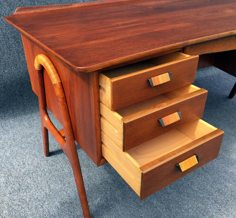 First Edition Teak Desk by Svend Aage Madsen for Sigurd Hansen Mobelfabrik 7