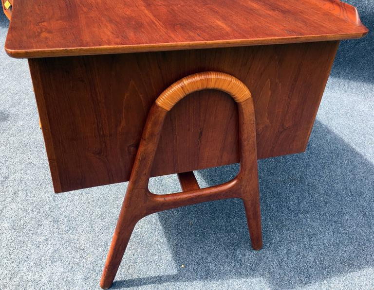 First Edition Teak Desk by Svend Aage Madsen for Sigurd Hansen Mobelfabrik 9