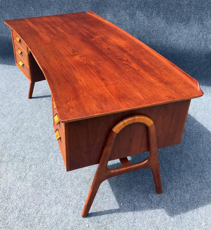 First Edition Teak Desk by Svend Aage Madsen for Sigurd Hansen Mobelfabrik 10
