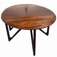 Oval Rosewood Drop Flap Dining Table by Kurt Ostervig for Jason Mobler