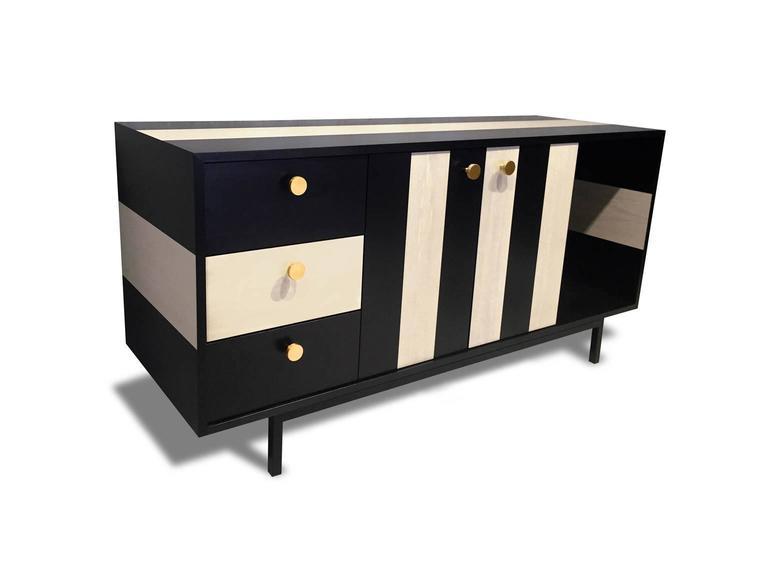 Modern Atocha Design No Wave Credenza or Sideboard For Sale