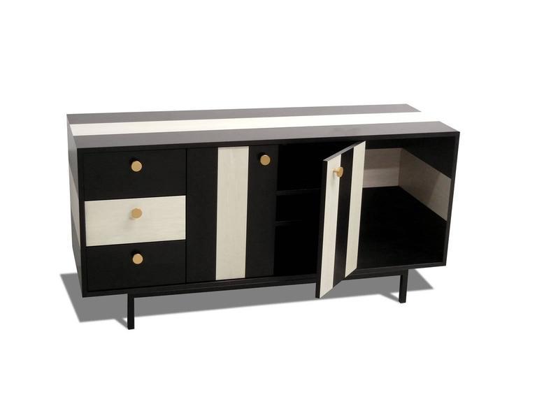 Powder-Coated Atocha Design No Wave Credenza or Sideboard For Sale