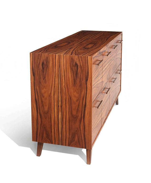 Veneer Record Cabinet for Vinyl LPs by Atocha Design, Eight LP Drawers For Sale