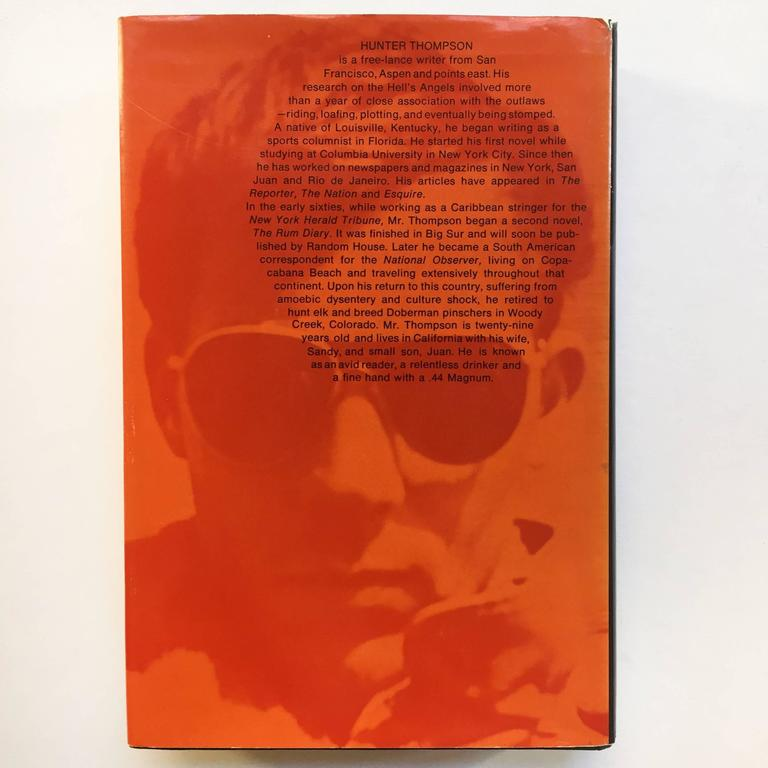 Hunter S. Thompson Hell's Angels First Edition 1967 In Excellent Condition For Sale In London, GB