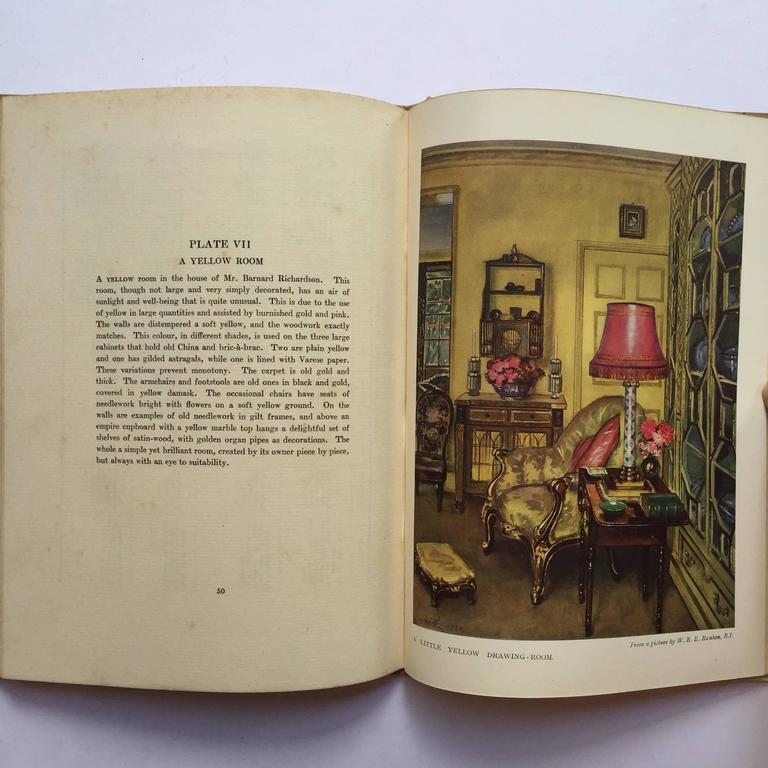 Color and Interior Decoration Basil Ionides 'Claridges Interior Decorator', 1926 In Good Condition In London, GB