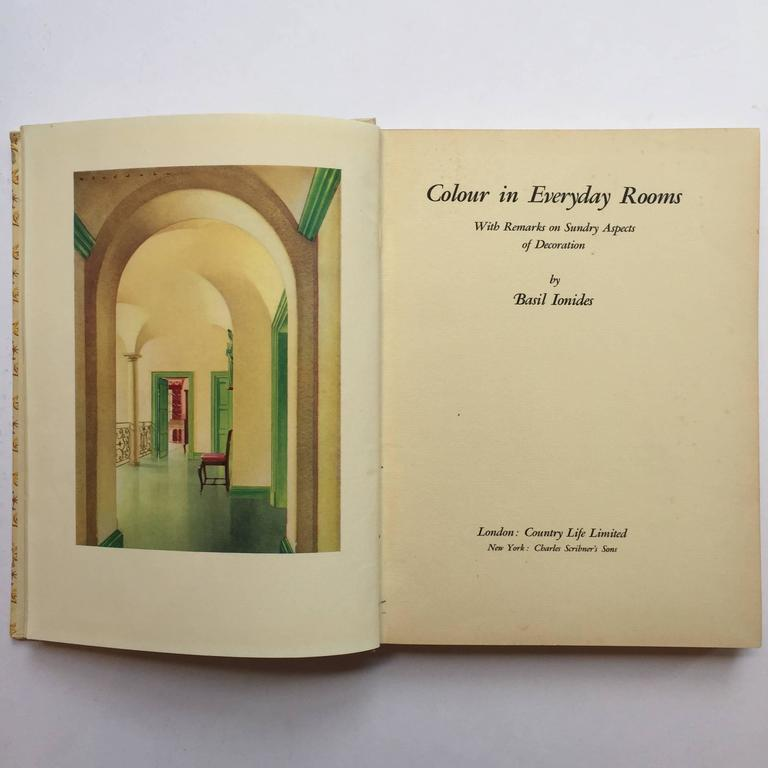 Art Deco Color in Everyday Rooms Basil Ionides, Interior Decorator Claridges 1st Ed, 1934 For Sale
