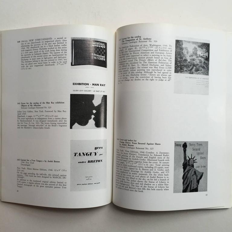 First edition, published by Eric Losfeld, 1972  'From the first painting to the last drawing over 260 items.'  This catalogue contains nearly all of Duchamp's graphic work, his layouts, covers for books, catalogs and magazines, his ready-mades