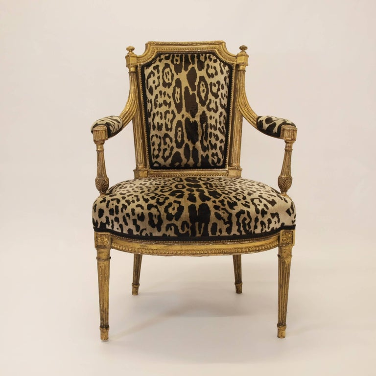 Hand-Carved Stunning Pair of Louis XVI Chairs Attributed to Jean-Baptiste Claude Sene, 1780 For Sale