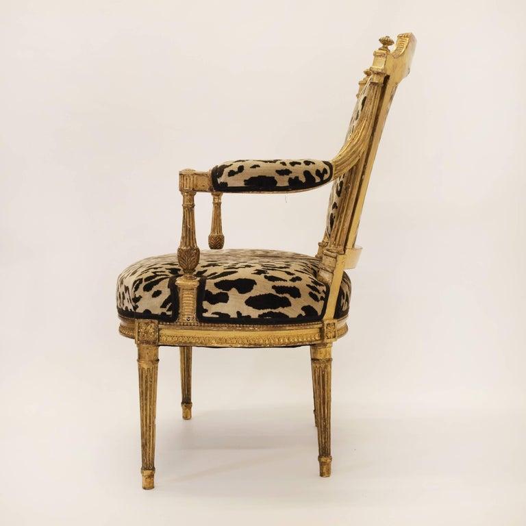 Stunning Pair of Louis XVI Chairs Attributed to Jean-Baptiste Claude Sene, 1780 5