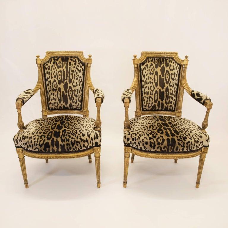 Stunning Pair of Louis XVI Chairs Attributed to Jean-Baptiste Claude Sene, 1780 10