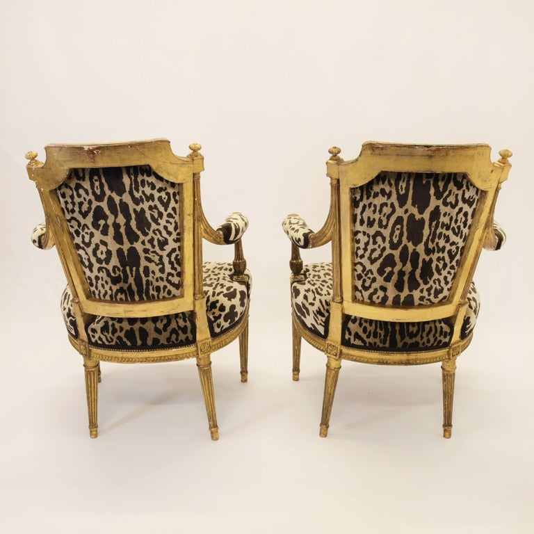 Stunning Pair of Louis XVI Chairs Attributed to Jean-Baptiste Claude Sene, 1780 For Sale 2