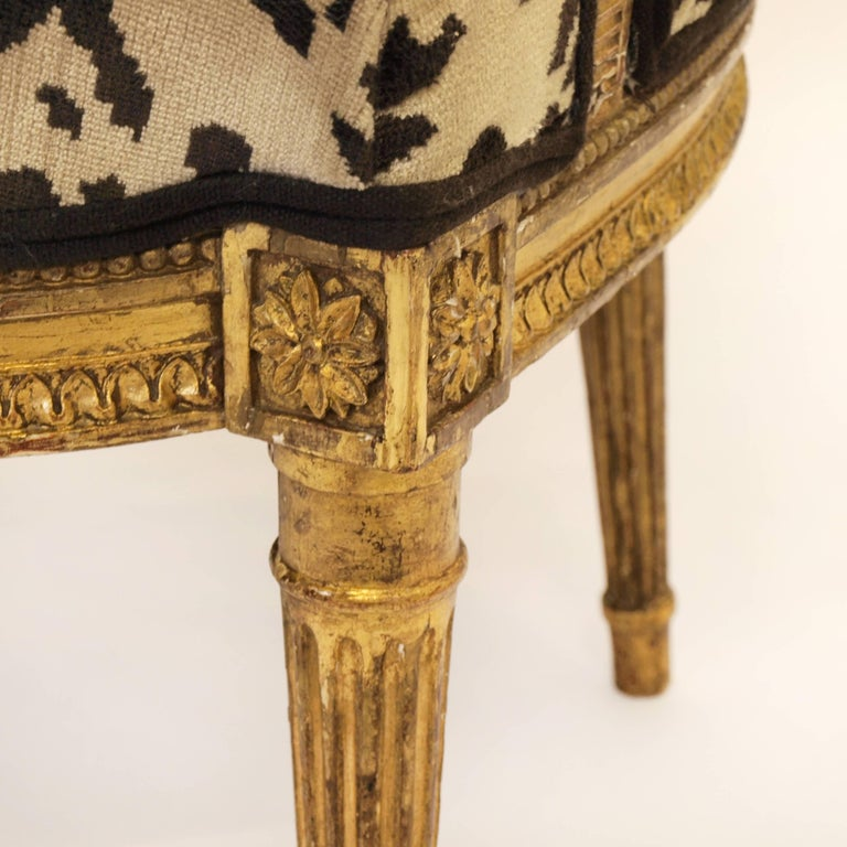 Giltwood Stunning Pair of Louis XVI Chairs Attributed to Jean-Baptiste Claude Sene, 1780 For Sale