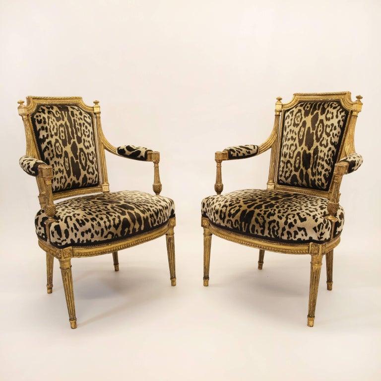 Stunning Pair of Louis XVI Chairs Attributed to Jean-Baptiste Claude Sene, 1780 2
