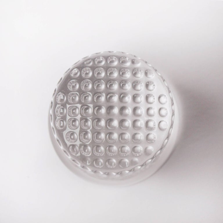 Crystal 1970s Christian Dior Paperweight of a Thimble For Sale