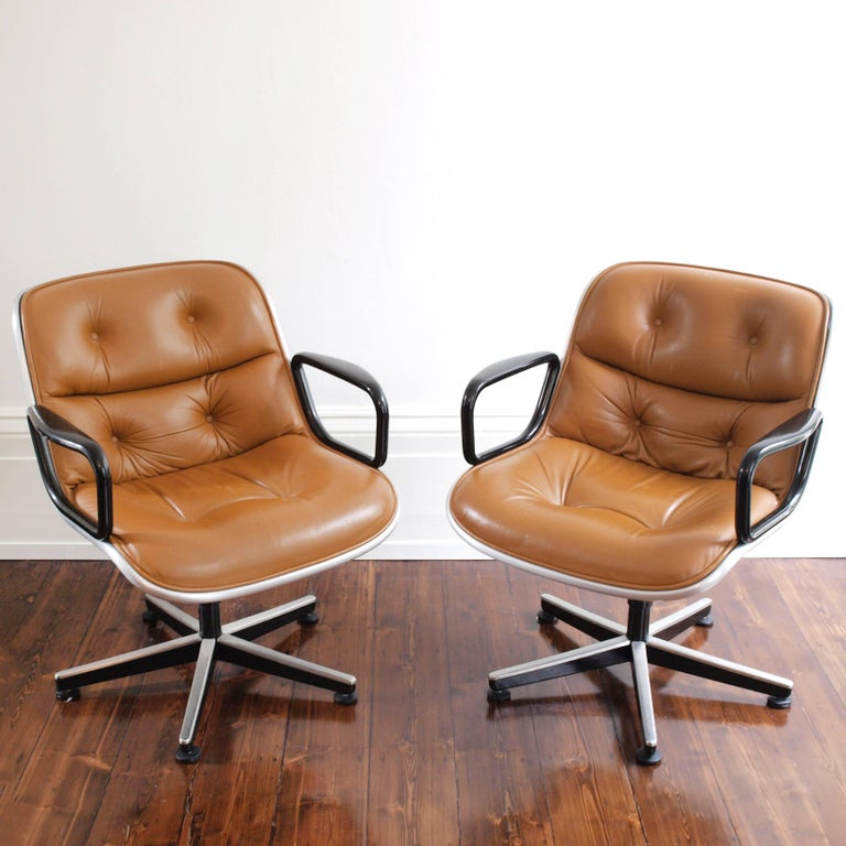Charles Pollock Executive Chair for Knoll International In Good Condition For Sale In London, GB